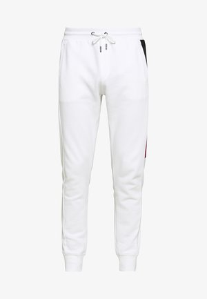 INTARSIA - Tracksuit bottoms - white