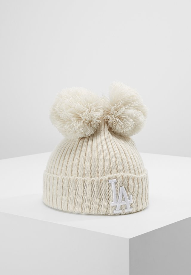 DOUBLE POM CUFF LOS ANGELES DODGERS - Beanie - white/wheat
