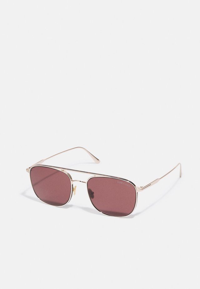 UNISEX - Sonnenbrille - shiny rose gold-coloured/brown