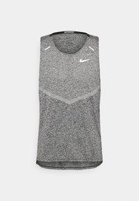 Nike Performance - RISE TANK - Funkční triko - black/heather/reflective silver - 0
