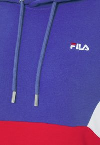 Fila - AMYA CROPPED HOODY - Sweatshirt - clematis blue/true red/bright white - 5