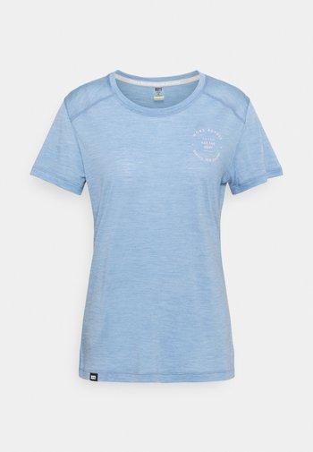 VAPOUR TEE - Jednoduché triko - faded denim