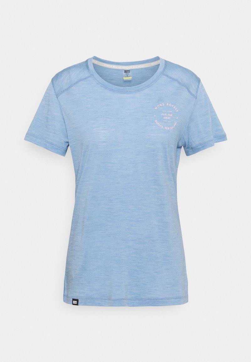 Mons Royale - VAPOUR TEE - Basic T-shirt - faded denim