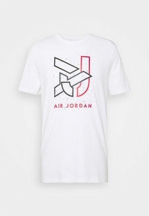 BRAND CREW - Print T-shirt - white