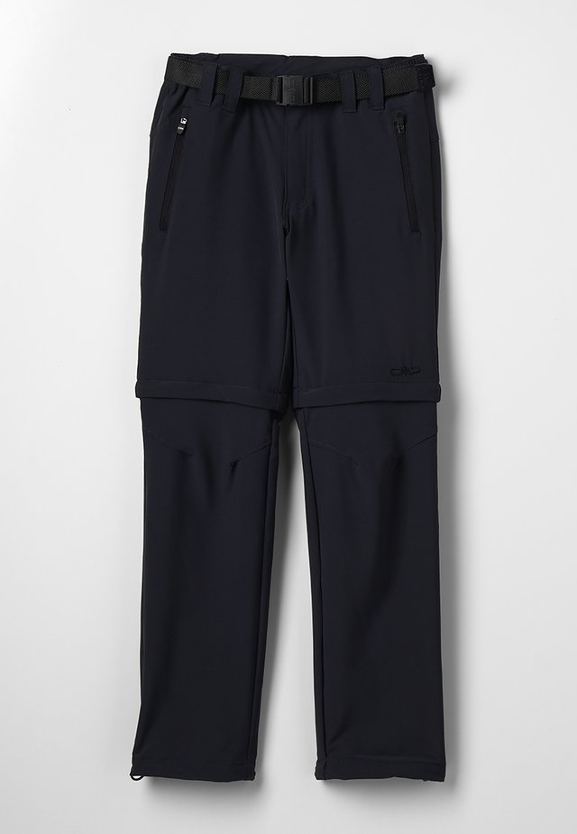 BOY PANT ZIP OFF - Trousers - antracite