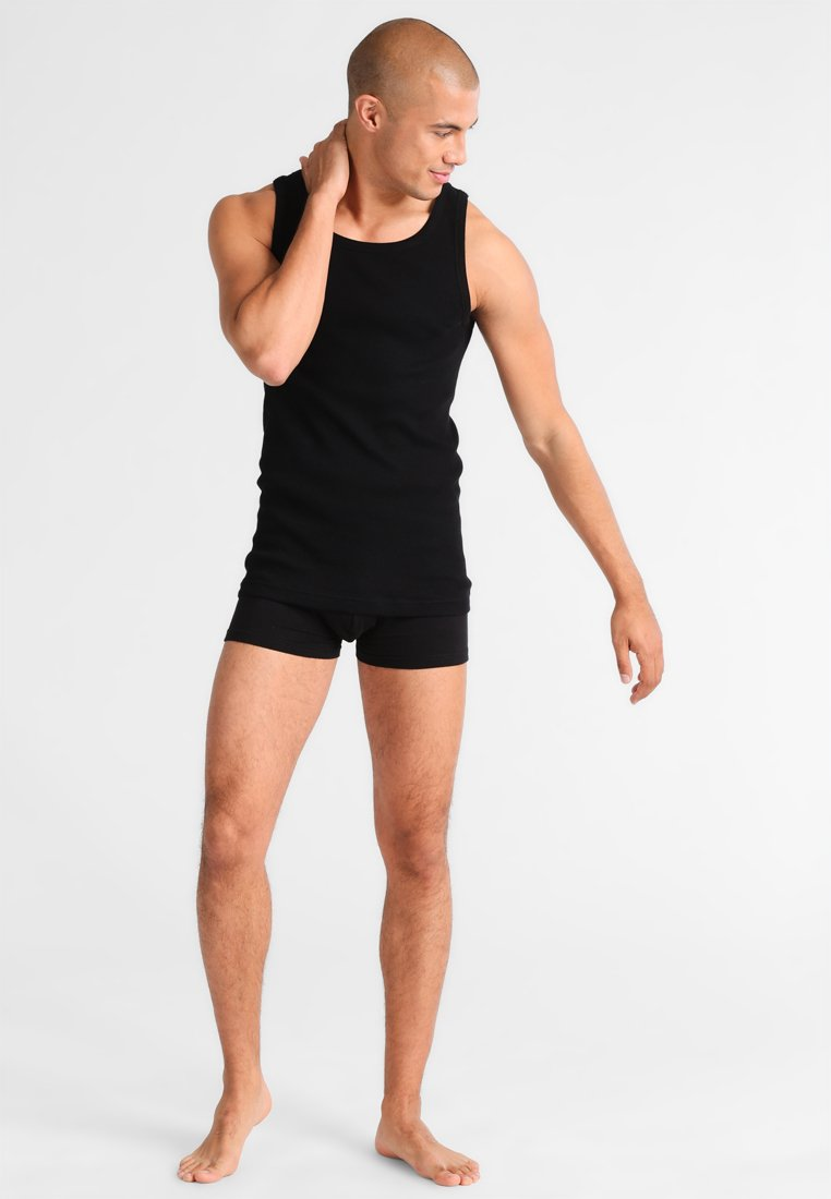 TOM TAILOR - 2 PACK - Undershirt - black
