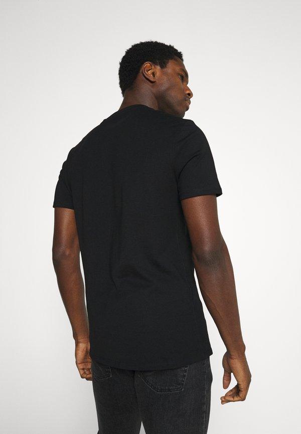 Guess DAZED NIGHTS TEE - T-shirt z nadrukiem - jet black/czarny Odzież Męska VMJX
