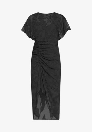 RUCHED SKIRT KIMONO - Day dress - navy