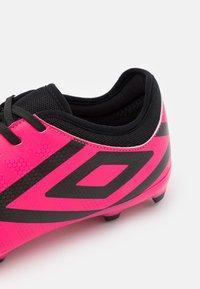 Umbro - VELOCITA VI CLUB FG - Moulded stud football boots - pink peacock/black/white - 5