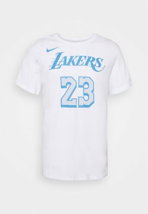 NBA LOS ANGELES LAKERS LEBRON JAMES CITY EDITION NAME NUMBER - Klubtrøjer - white