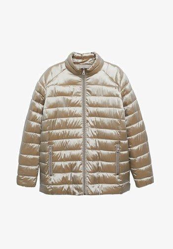 MIT SEITLICHEN ZIPPERN - Winter jacket - kupfer