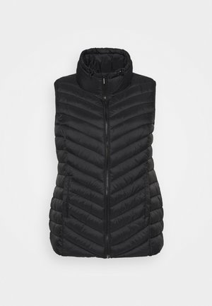 LIGHTWEIGHT PADDED GILET WITH RECYCLED WADDING - Waistcoat - black