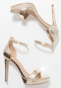 ALDO - MADALENE - High heeled sandals - gold - 3