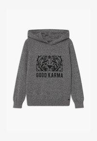 IKKS - TIGER  KNIT JUMPER - Sweat à capuche - gris  anthracite - 0