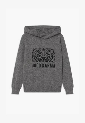 TIGER  KNIT JUMPER - Hoodie - gris  anthracite