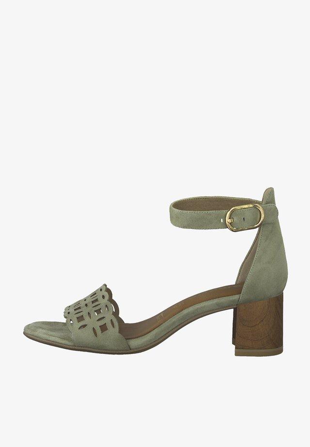 Sandalen met hoge hak - lt. olive