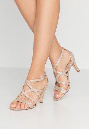 High heeled sandals - stone