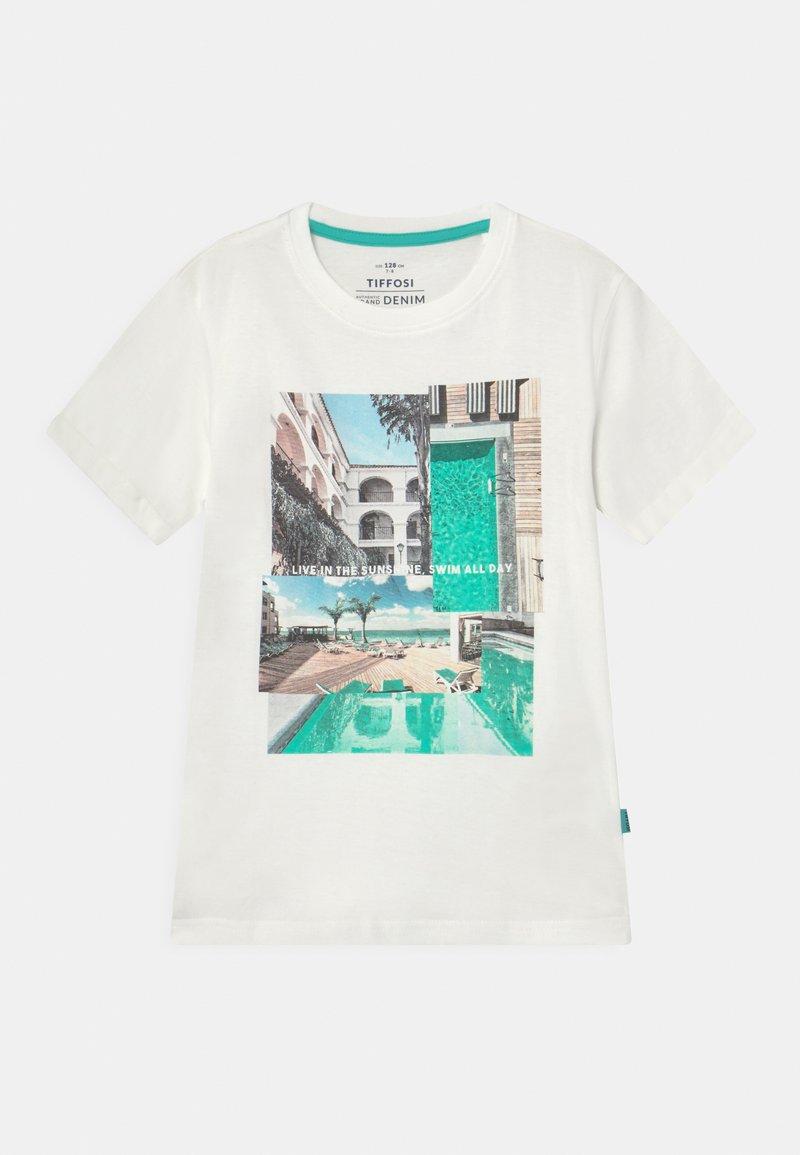 Tiffosi - ADAMASTOR - T-shirt print - beje