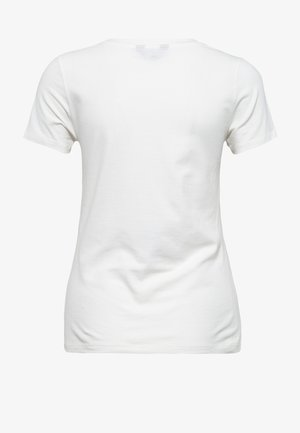 MIT FRONTPRINT UND V-AUSSCHN - Print T-shirt - weiß