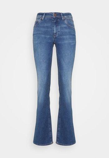 NELLA - Flared Jeans - bright mid blue