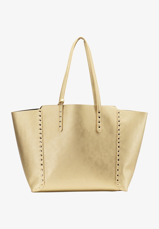 Shopping bags - gold metallic