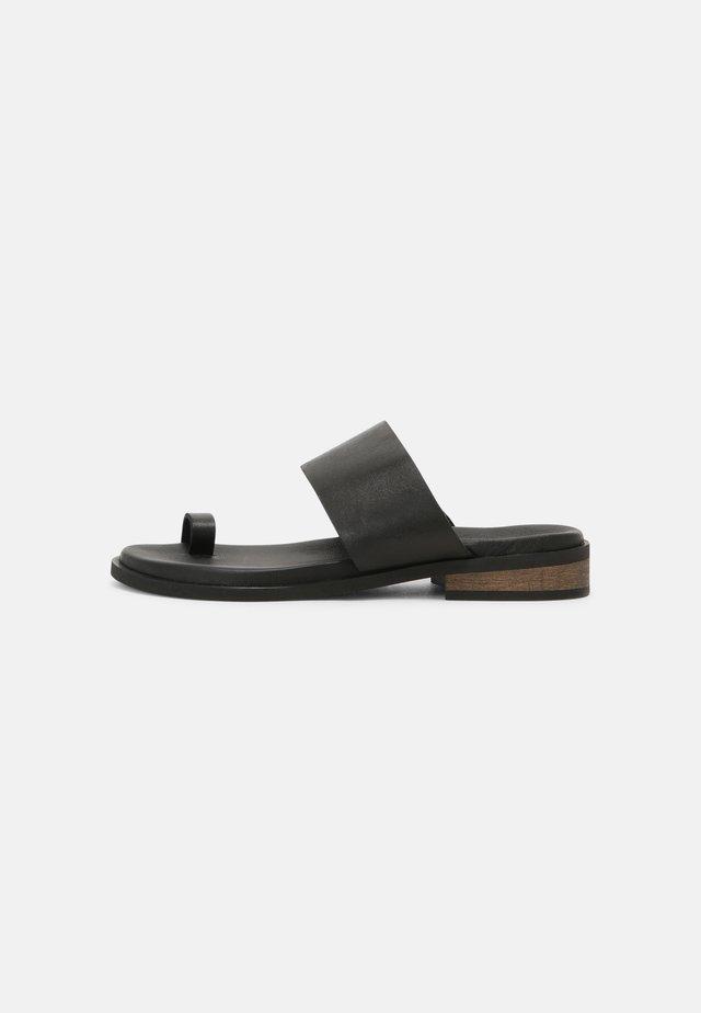 AURORA - T-bar sandals - black