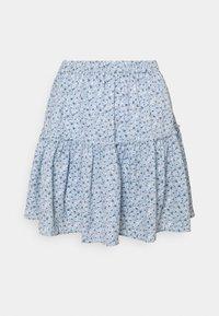 NA-KD - PAMELA REIF X ZALANDO RECYCLED FRILL MINI SKIRT - Mini skirt - painted blue - 3