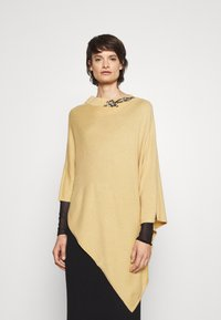 TWINSET - EMBROIDERY PONCHO - Cape - golden rock - 0