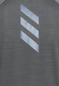 adidas Performance - ADI RUNNER TEE - T-shirt print - grey six - 2