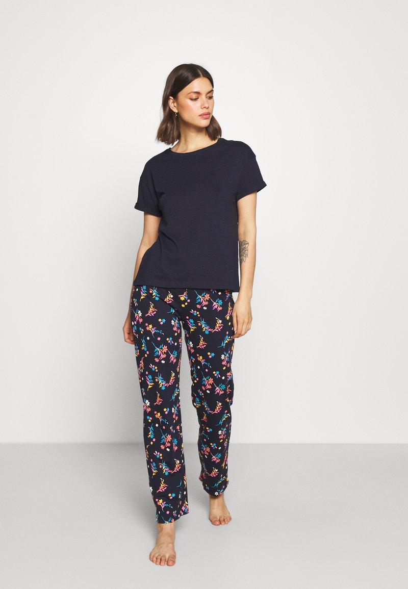 Marks & Spencer London - FLORAL - Pyjamas - navy mix