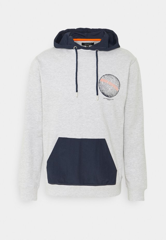 CONTRAST PRINTED - Sweat à capuche - grey mel