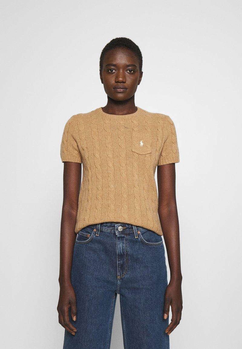 Polo Ralph Lauren - TEE SHORT SLEEVE - T-shirt z nadrukiem - collection camel melange
