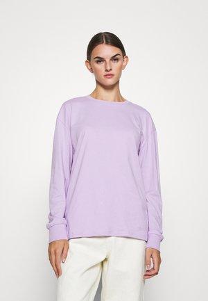 Top sdlouhým rukávem - lilac