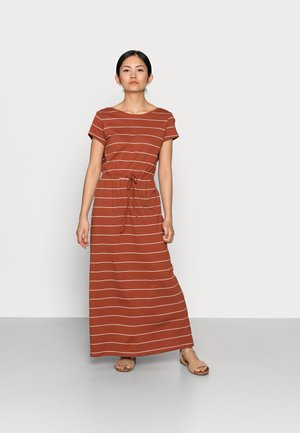 ONLMAY LIFE STRING MAXI DRESS  - Maxi dress - arabian spice/cloud dancer