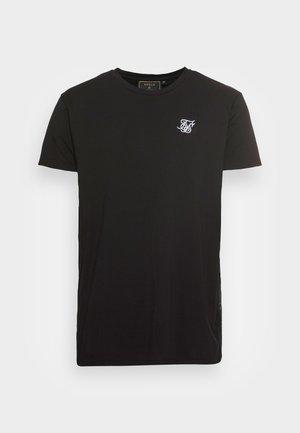 EMBROIDERED TAPE TEE - Paprasti marškinėliai - black