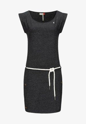 Jersey dress - schwarz meliert