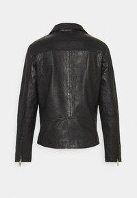 Selected Homme - SLHICONIC BIKER  - Leather jacket - black - 8