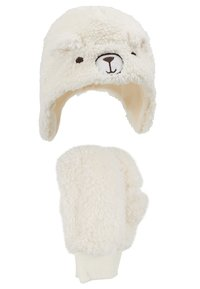 GAP - TODDLER GIRL BEAR SET - Beanie - ivory frost - 4
