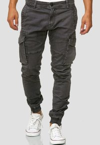INDICODE JEANS - ALEX - Pantaloni cargo - dark grey - 0