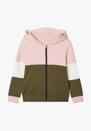 Zip-up hoodie - coral blush