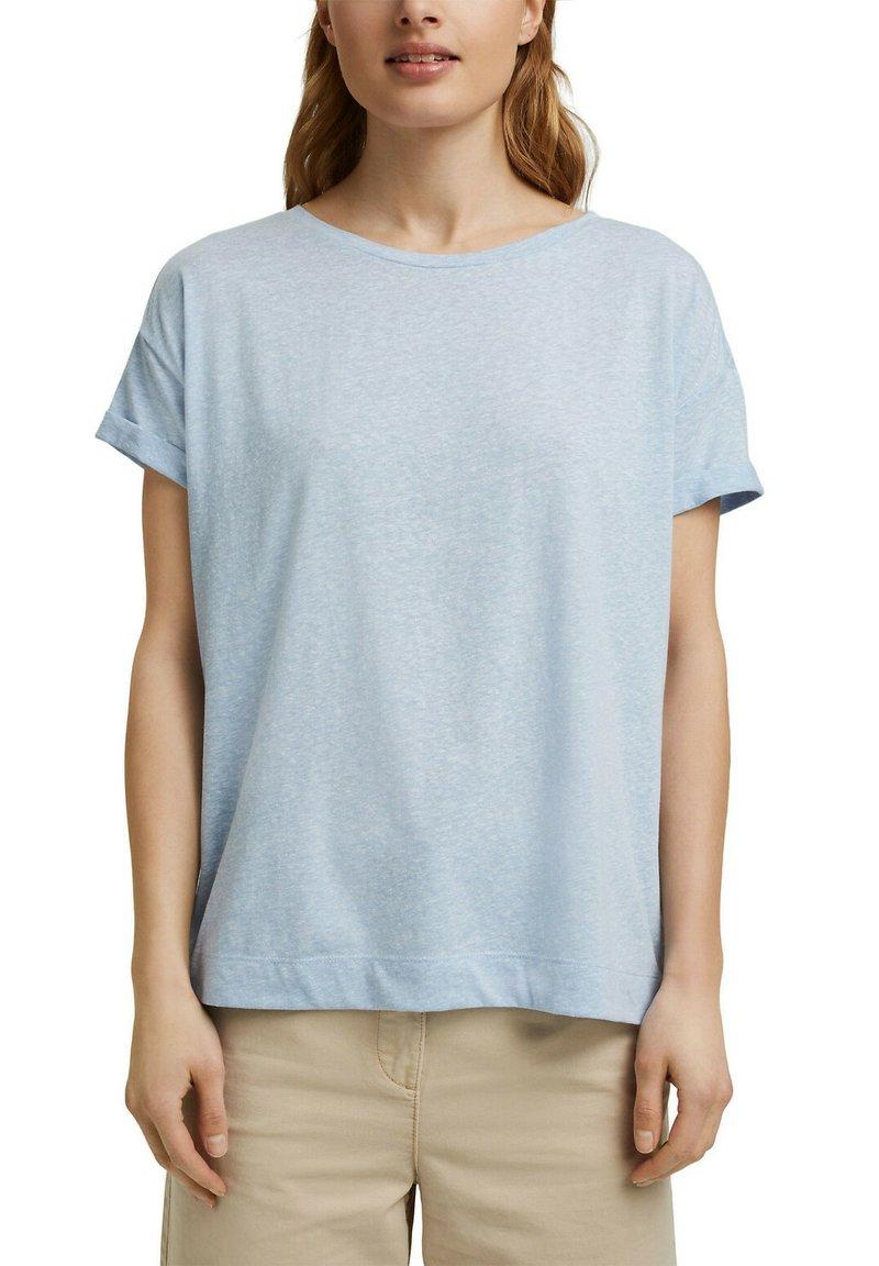 Esprit - PER COO CLOUDY - Basic T-shirt - light blue