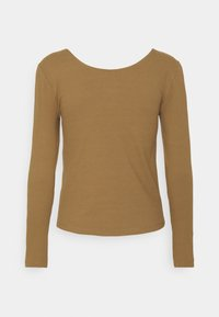 ONLY - ONLSIMPLE LIFE BUTTON - Long sleeved top - toasted coconut - 1