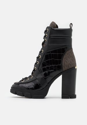 RIDLEY LACE UP BOOTIE - Veterboots - black