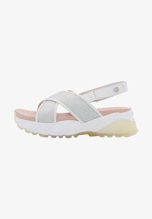 Platform sandals - silber