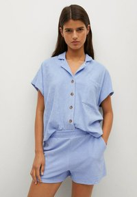 Mango - Overhemdblouse - hemelsblauw - 2