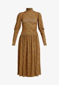 LUCILLE DRESS - Jersey dress - yellow brown