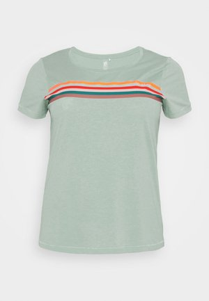 ONPFU LIFE REGULAR  TEE CURVY - Print T-shirt - gray mist/melange