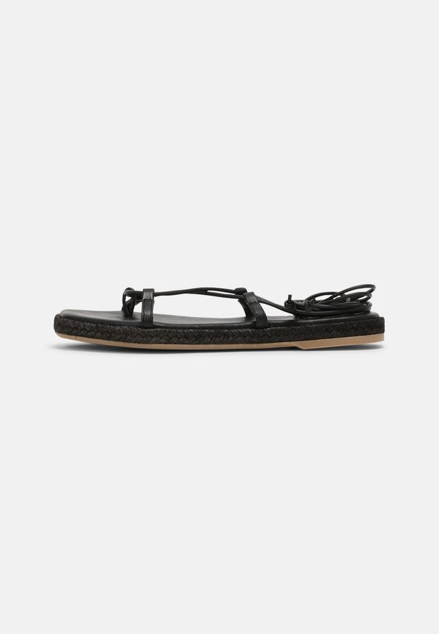 TRIBE - T-bar sandals - black
