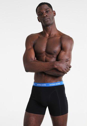 SHORTS CONTRAST SOLIDS 3 PACK - Underkläder - black