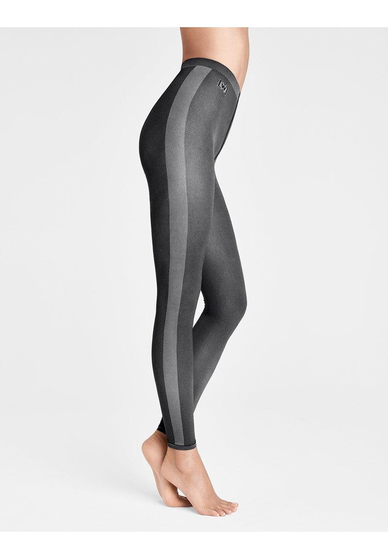 Wolford - ROBIN  - Leggings - Stockings - black/ash
